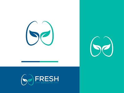 Fresh Breathing logo leaf logo breathing logo fresh breath logo medical logo logos custom logo logo business creative logo brand identity minimal logo design logo branding
