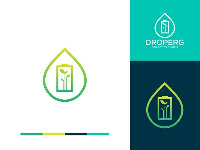 Droperg Eco Power system logo electrical logo electric power logo custom logo minimalist logo logo business business creative logo brand identity minimal logo design logo branding