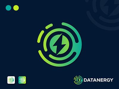Datanergy Logo Design custom logo minimalist logo technology logo circle logo iconic logo app logo modern logo gradient logo data energy logo energy logo abstract logo logo business minimal logos