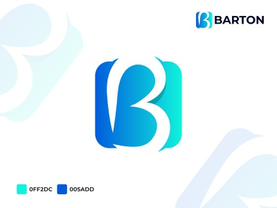 Barton logo vector logo business lettermark gradient logo b letter barton agency logo b logo branding agency app icon abstract logo modern logo illustration brand identity branding minimal