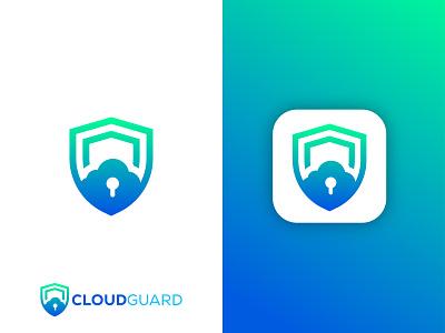 Cloud Guard Logo security logo colorful graphic design application logo vector gradient logo abstract logo cloud logo shield logo cloud guard logo app logo modern logo brand identity branding logo design logo