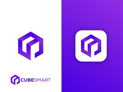 Cube Smart logo logo business gradient design application logo software logo illustration colorful logo cube logo graphic design vector gradient logo app logo modern logo brand identity branding logo design logo