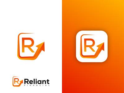Reliant Financial logo gradient ui colorful logo logo business illustration vector gradient logo app logo modern logo financial logo financial app growth logo brand identity branding logo design logo