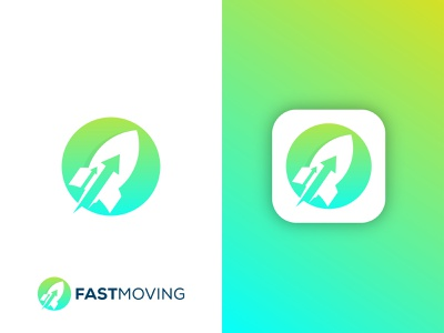 Fast moving logo ui software logo flat logo aero logo abstract logo logistics rocket logo fast moving logo moving logo fast logo colorful logo app logo modern logo gradient logo illustration graphic design brand identity branding logo design logo