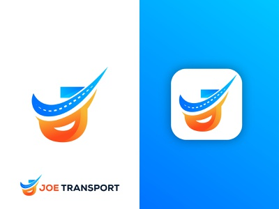 Joe Transport logo graphic design software logo logo business gradient logo ui transportation trucking logo abstract logo express logo transport logo colorful logo app logo vector modern logo illustration brand identity branding logo design logo