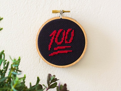 💯 Cross-Stitch diy handmade embroidery emoji art 💯 100 cross-stitching cross-stitch emoji