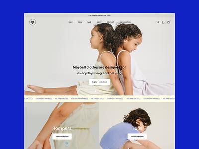 Maybell Studio Website Revamp ecommerce shop ecommerce design brand design ecommerce clean design branded ecommerce web design website design typography minimal