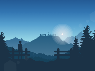 friends in high places dream blue silhouette trees moon greyscale mountains man deer friends fence