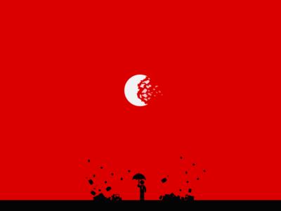 the storm man umbrella calm shatter red storm kafka on the shore murakami