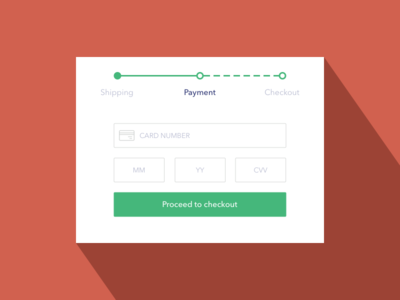 Daily UI #02 - Credit Card Checkout modal payment green orange dailyui checkout card credit