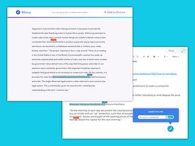 Mirror chrome link share editor input collaborative text google docs mirror