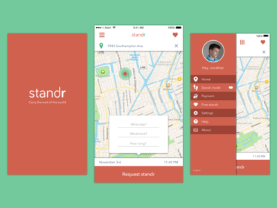 standr app flow time sharing stand in line ios app sharing standr