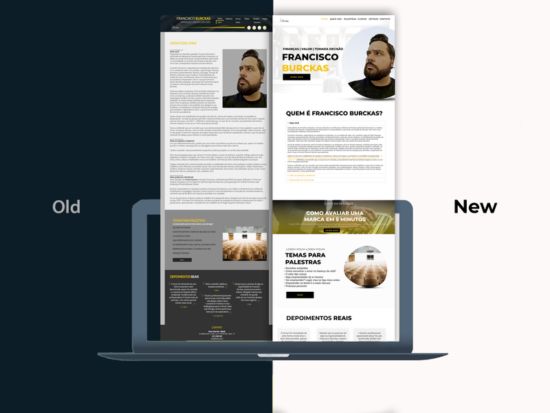Redesign Website Personal redesign concept visual identity ux ui wordpress development figma redesign