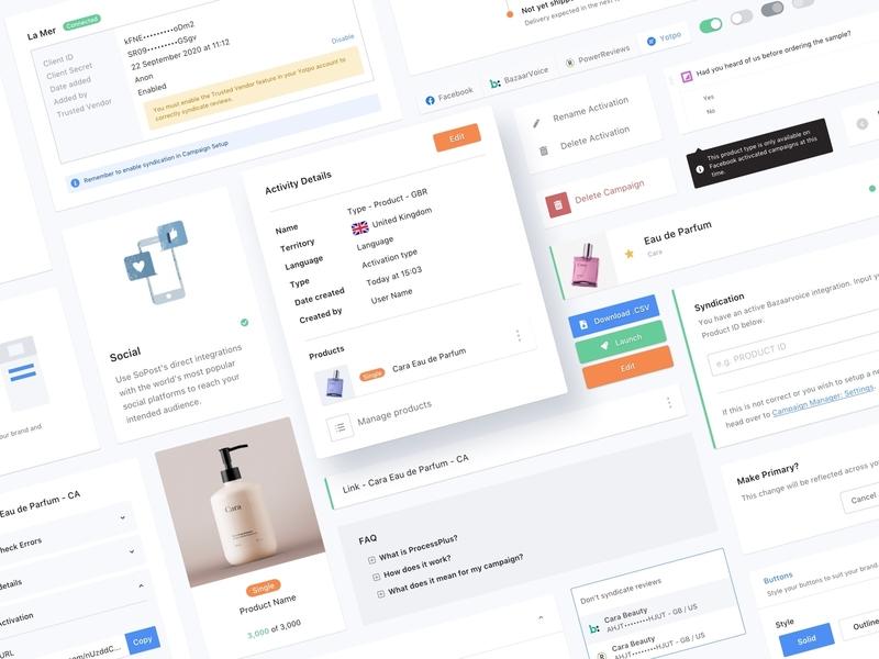 SoPost - Campaign Manager web app design system sketch ui design product design sampling sample product ux web ui design