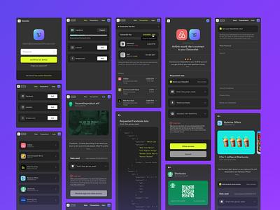 Datawallet – Web 3 Wallet. ux design web3 dapp wallet extension blockchain