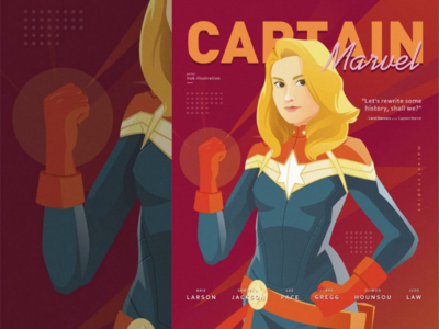 Captain Marvel Poster portrait character illustration