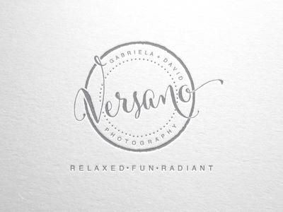 Logo Design for Versano Photography brand typography logo circle logo photographer logo logo design illustrator photograhy photography logo logotype design typography vector branding logo