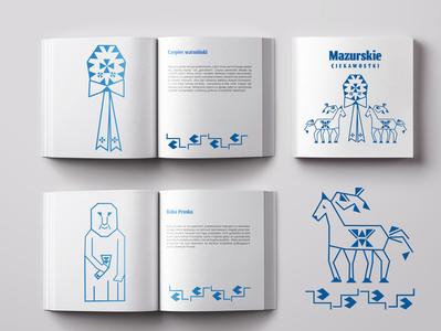 Masurian  folklore folkart folk art folklore vector illustration