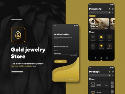 Gold Jewerly Store  mobile application ui/ux app webdesign vector mobile jewerly gold store app mobile app ui ux