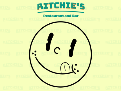 Ritchie's Restaurant Logo and Wordmark design vector illustrator graphic branding wordmark logodesign logo restaurant logo restaurant branding restaurant