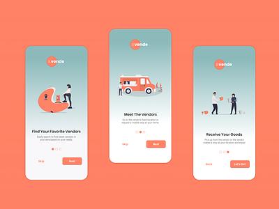 Vende - Onboarding flat minimal design website web branding logo app ux ui