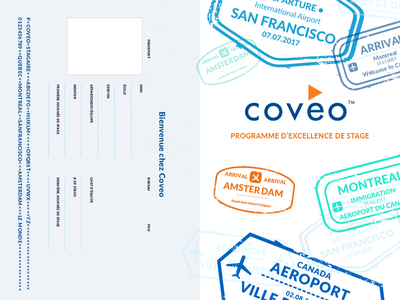 Coveo Internship Passport graphic design passport print colourful design