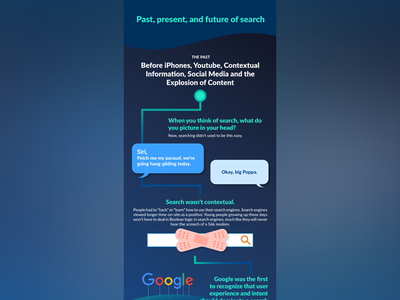 History Of Search coveo typography colourful graphic design design infographic