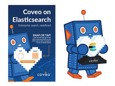 Coveo for Elasticsearch illustration graphic design event marketing promotional
