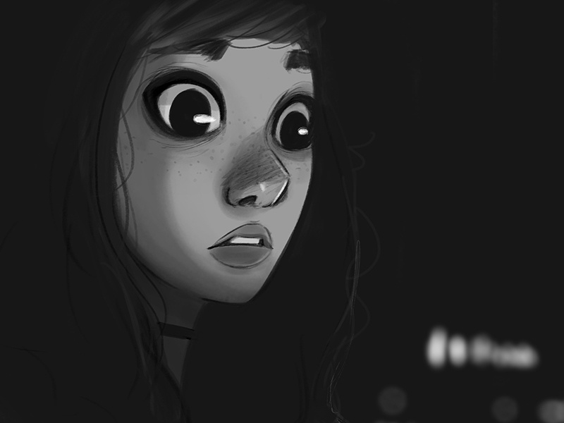 Dark illustration character darke