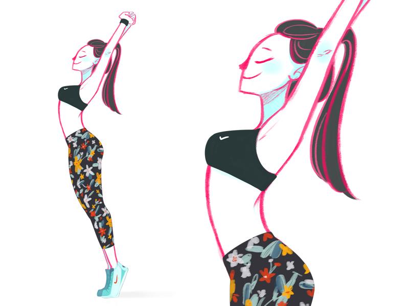 Fitness 1 running nike girl fitness