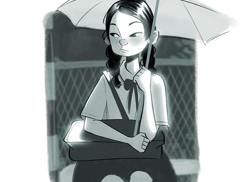 Umbrella illustration character umbrella
