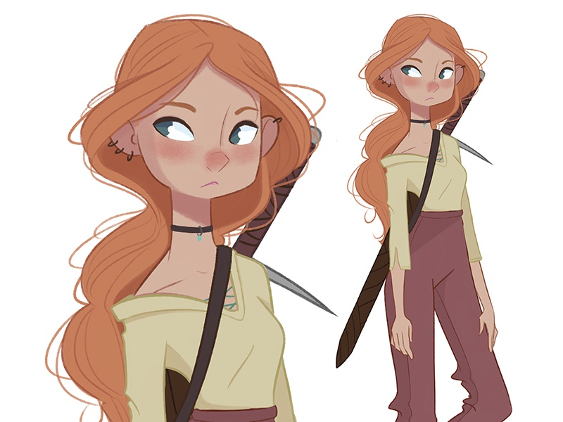 Warrior Color girl warrior