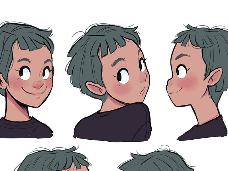 Faces expressions girl faces design character