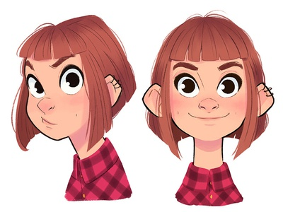 Eli expressions girl faces design character