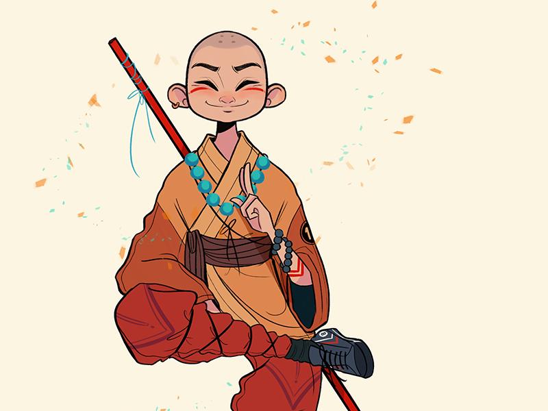 Shaolin Monk design character