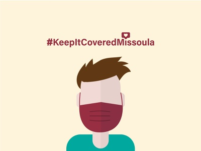Keep It Covered - Local Campaign covid-19 hashtag illustration minimal design campaign