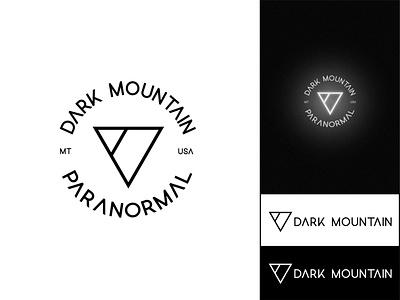 Logo for Dark Mountain Paranormal vector minimal black and white branding brand mark adobe illustrator design logo