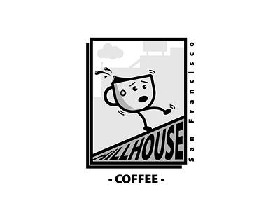 Hill House Coffee - Sharpen Design Prompt Generator character branding thicklines illustration vector adobe illustrator brand logo minimal design