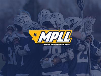 Montana Premier Lacrosse League - Alternate Logo lacrosse branding vector adobe illustrator brand logo design minimal
