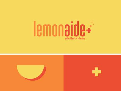 Lemonaide (Antioxidants + Vitamins) vector adobe illustrator brand design minimal branding logo graphic design