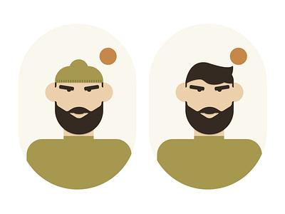 Longshoreman character avatar illustration vector adobe illustrator design minimal