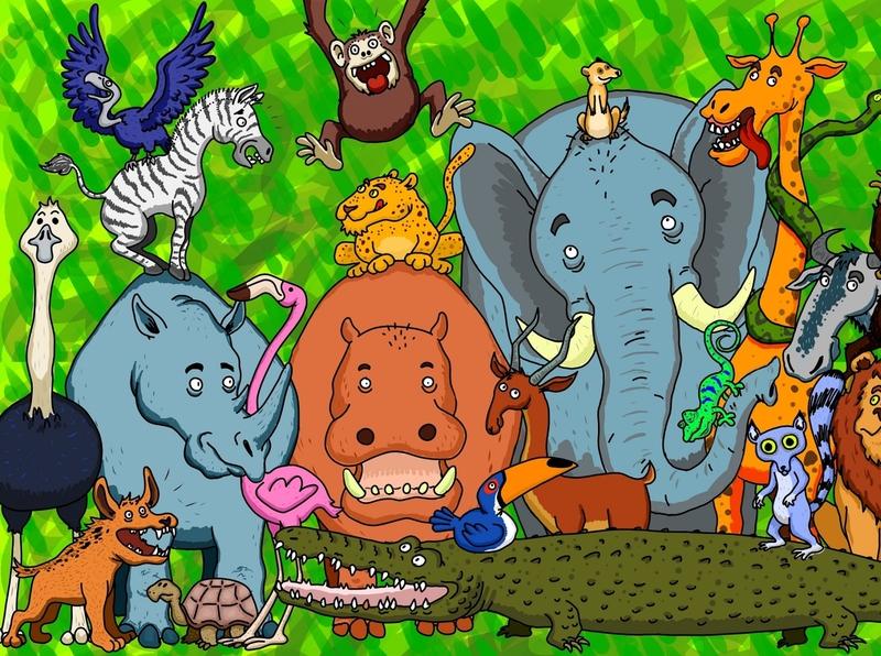 Safari digital illustration digital painting digital art digital animals africa illustration drawing