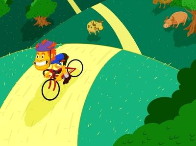 Spin outside cycling bicycling bicycle bike digital art digital painting illustration drawing digital illustration