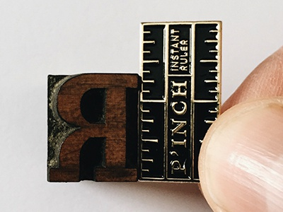 P'inch enamel pin