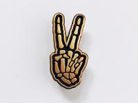 Skele-peace pin