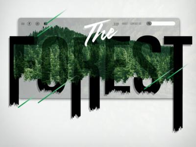 The forest : Landing Page webux pageui design website landingpage webui uiux ui