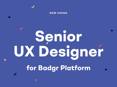Hiring for a Senior UX Designer research design productdesign product userexperience hiring web application experience ux design ux