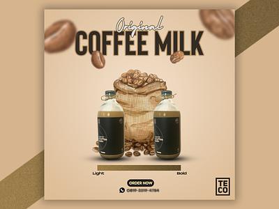 TECO flavor variant - Original poster instagram feed branding graphic design