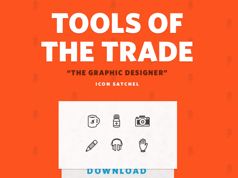 Tools Of The Trade icons icon pack landing red