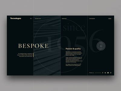 Bespoke, passion & quality custom about minimal designer ui design stripes fullscreen since bespoke